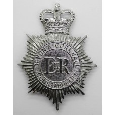 Devon & Cornwall Constabulary Helmet Plate - Queen's Crown