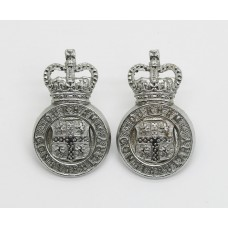 Pair of Durham Constabulary Collar Badges - Queen's Crown