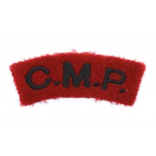 Corps of Military Police (C.M.P.) Cloth Shoulder Title