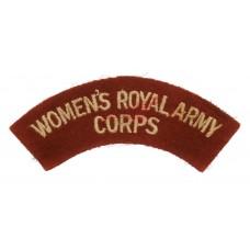 Women's Royal Army Corps (WOMEN'S ROYAL ARMY/CORPS) Cloth Shoulder Title