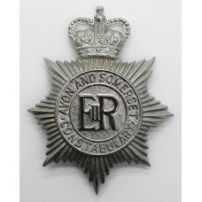 Avon & Somerset Constabulary Helmet Plate - Queen's Crown