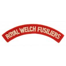 Royal Welch Fusiliers (ROYAL WELCH FUSILIERS) Cloth Shoulder Title