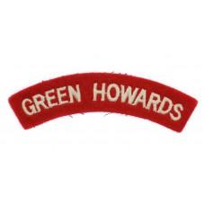Green Howards (GREEN HOWARDS) Cloth Shoulder Title