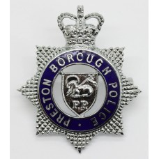 Preston Borough Police Senior Officer's Enamelled Cap Badge - Que