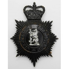 Warwickshire Constabulary Night Helmet Plate - Queen's Crown