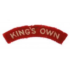 The King's Own Royal Lancaster Regiment (KING'S OWN) Cloth Shoulder Title