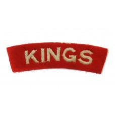 The King's Regiment (KINGS) Cloth Shoulder Title