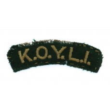 King's Own Yorkshire Light Infantry (K.O.Y.L.I.) Cloth Shoulder Title