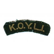 King's Own Yorkshire Light Infantry (K.O.Y.L.I.) Cloth Shoulder T