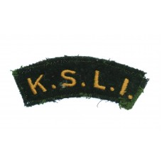 King's Shropshire Light Infantry (K.S.L.I.) Cloth Shoulder Title