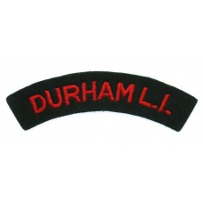 Durham Light Infantry (DURHAM L.I.) Cloth Shoulder Title