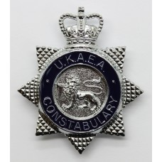 United Kingdom Atomic Energy Authority (U.K.A.E.A.) Constabulary Enamelled Cap Badge - Queen's Crown
