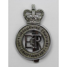 Nottinghamshire Combined Constabulary Cap Badge - Queen's Crown