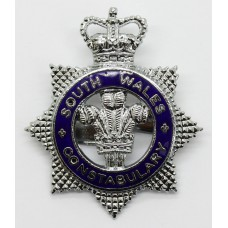 South Wales Constabulary Senior Officer's Enamelled Cap Badge - Queen's Crown