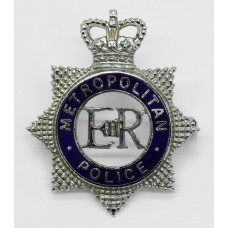 Metropolitan Police Senior Officer's Enamelled Cap Badge - Queen's Crown