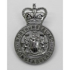 Northumberland Constabulary Cap Badge - Queen's Crown