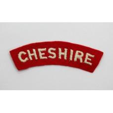 Cheshire Regiment (CHESHIRE) Cloth Shoulder Title