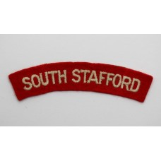 South Staffordshire Regiment (SOUTH STAFFORD) Cloth Shoulder Title