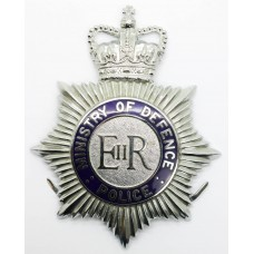 Ministry of Defence Police Enamelled Helmet Plate - Queen's Crown