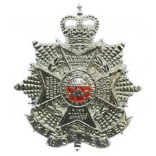 Border Regiment Anodised (Staybrite) Cap Badge - Queen's Crown