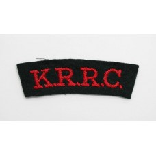 King's Royal Rifle Corps (K.R.R.C.) Cloth Shoulder Title