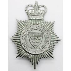 West Sussex Constabulary Helmet Plate - Queen's Crown