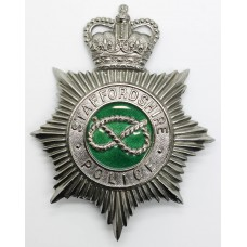 Staffordshire Police Enamelled Helmet Plate - Queen's Crown