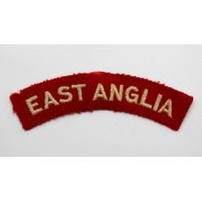 East Anglian Brigade (EAST ANGLIA) Cloth Shoulder Title