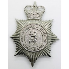 Warwickshire & Coventry Constabulary Helmet Plate - Queen's C