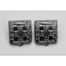 Pair of Jamaica Police Collar Badges