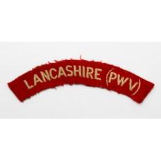 Lancashire Regiment (LANCASHIRE (PWV)) Cloth Shoulder Title