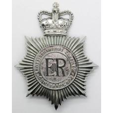 Nottinghamshire Combined Constabulary Helmet Plate - Queen's Crow