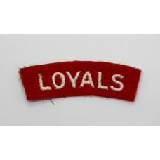 The Loyal Regiment (LOYALS) Cloth Shoulder Title