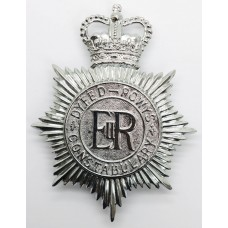 Dyfed-Powys Constabulary Helmet Plate - Queen's Crown