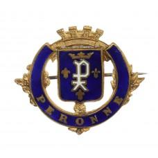 WWI Battle of Peronne Enamelled Sweetheart Brooch