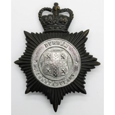 Durham Constabulary Night Helmet Plate - Queen's Crown