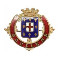 WWI Battle of Doullens Enamelled Sweetheart Brooch