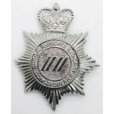 British Airports Authority Constabulary Helmet Plate - Queen's Crown