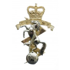 Royal Electrical & Mechanical Engineers (R.E.M.E.) Anodised (Staybrite) Cap Badge