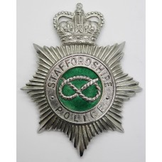 Staffordshire Police Enamelled Helmet Plate - Queen's Crown