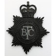 British Transport Commission (B.T.C.) Police Night Helmet Plate -