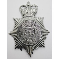 Sussex Police Helmet Plate - Queen's Crown