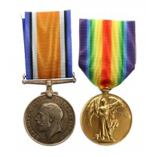 WW1 British War & Victory Medal Pair - Pte. T.W. Nicholson, N