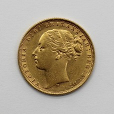1876 M Victoria 22ct Gold Full Sovereign Coin (Melbourne Mint)