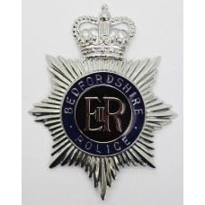 Bedfordshire Police Enamelled Helmet Plate - Queen's Crown