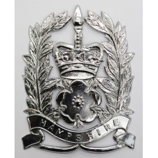 Hampshire Constabulary Constable's Helmet Plate - Queen's Crown