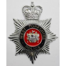 West Yorkshire Police Enamelled Helmet Plate - Queen's Crown