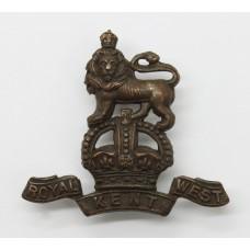 Royal West Kent Regiment Officer's Service Dress Collar Badge - King's Crown