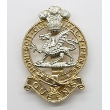 Queen's Royal Regiment Anodised (Staybrite) Cap Badge