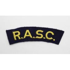 Royal Army Service Corps (R.A.S.C.) Cloth Shoulder Title